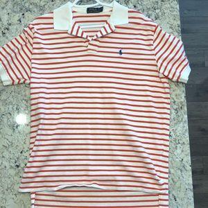 Men's Striped Polo Shirt Large